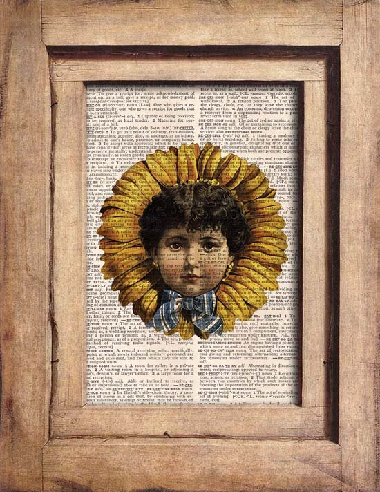 Vintage, Child, Flower, Dictionary Page Print 0078
