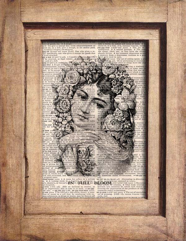 Vintage - The Full Bloom -Dictionary Page Print 0066