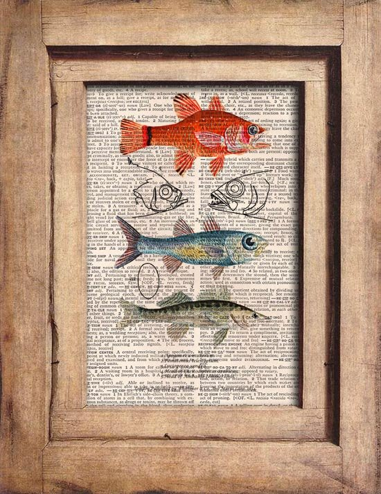 Vintage Fish Dictionary Page Print 0058