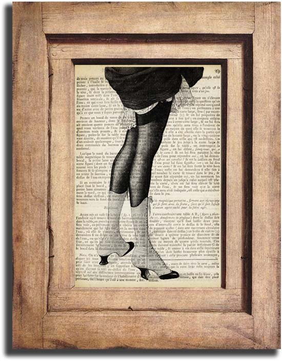 Vintage Woman Legs Dictionary Page Print 0046