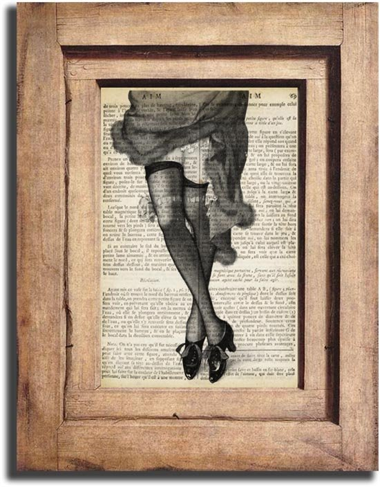 Vintage Woman Legs Dictionary Page Print 0040