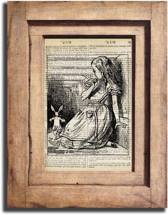 Vintage ALICE IN WONDERLAND Dictionary Page Print 0026