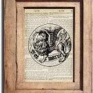 Art Print Vintage ORNAMENTAL Dictionary Page Print 0008