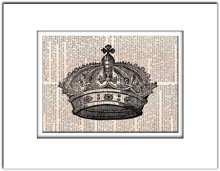 Art Print Vintage AIR BALLOON Dictionary Page Print 0006