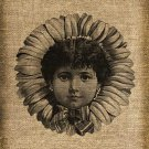 Vintage, Flower Child, Ephemera, Altered, Digital Image No.151