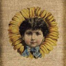 Vintage, Flower Child, Ephemera, Altered, Digital Image No.152