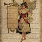 Vintage, Fairy, Altered, Printable, Iron On, Ephemera, Digital Image No. 184
