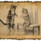 Vintage KITTIES, Altered, Printable, Iron On, Ephemera, Digital Image No. 198