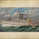Vintage Ship Pilgrim, Altered, Ephemera, Digital Image No. 250