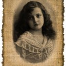 Vintage Girl, Altered, Printable, Iron On, Ephemera, Digital Image No. 267