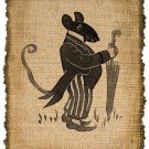 Vintage, Mouse, Altered, Printable, Iron On, Ephemera, Digital Image No. 277