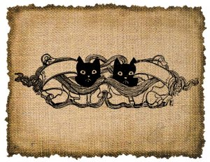 Vintage , Cats, Ephemera, Altered, Digital Image Transfer  No. 302