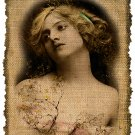 Vintage Woman Portrait, Iron On Digital Image No.307