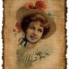 Vintage , Woman Portrait, Ephemera, Altered, Digital Image No. 382
