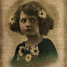 Vintage, Girl, Altered, Ephemera, Iron on, Image No. 425