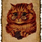 Vintage, Knitting Cat, Altered, Ephemera, Iron on, Image No. 434