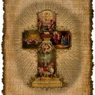 VINTAGE, EASTER CROSS, Altered, Printable, Iron On, Ephemera, Digital Image No. 463