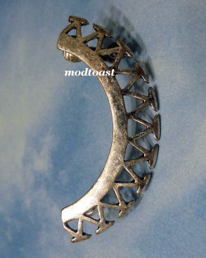 Triangle Bar Ear Cuff Crescent Shape Wrap Earring Antique Silver Body Armor