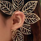 Leaves Ear Cuff Wrap Earring Gold Body Armor Statement Leaf