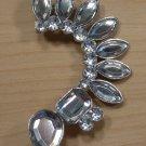 Ear Cuff Tribal Armor Gems Earring Silver Body Jewelry Avant Garde Fashion Statement