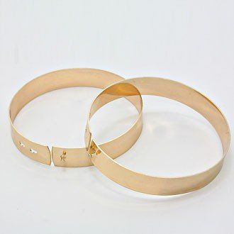 Anklets Two Piece Metal Bands Gold Body Armor Accessory Avant Garde Fashion Statement
