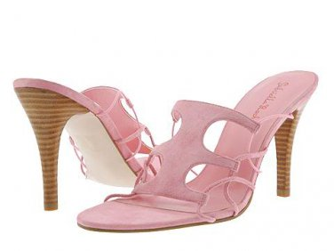 Gabriella Rocha Womens Size 9.5 Shoes Pink Suede Dance Dress Slide Sandal Heels Pumps