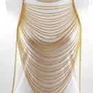 Body Chain Gold Draping Chains Dress Armor Chains Avant Garde Designer Statement