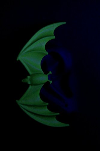 Bat Ear Cuff Halloween Wicked Neon Fluorescent Spooky Goth Decor Vampire Earring Ear Clip Statement