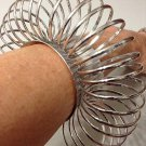 Avant Garde Circle Cuff Bracelet Massive Oversized Chunky Silver Fashion Statement Armor Tribal