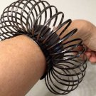 Avant Garde Circle Cuff Bracelet Massive Oversized Chunky Hematite Fashion Statement Armor Tribal