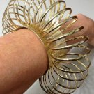 Avant Garde Circle Cuff Bracelet Massive Oversized Chunky Gold Fashion Statement Armor Tribal