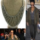 Web Chain Necklace Statement Silver Tribal Chunky Chain Celebrity Designer Style