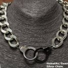 Handcuff Choker Necklace Silver Chain Hematite Gun Metal Cuffs Designer Chunky Handcuffs Statement
