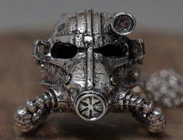 Face Mask Statement Helmet Necklace Steampunk Chain Armor Silver Men Women