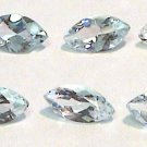 Set of FIVE 5 x 2.5 mm Marquise Aquamarine