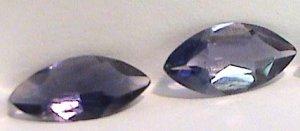 Pair of Marquise cut Iolite
