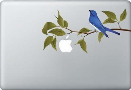 Macbook sticker blue bird