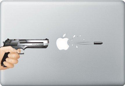 MAcbook Laptop vinyl sticker GUN SHOT