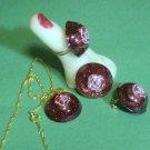 Resin jewelry set # 313