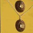Resin jewelry set  # 325
