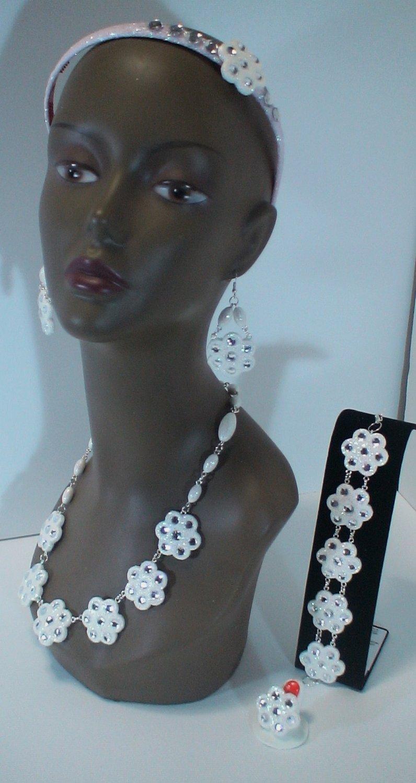 #498 bridal jewelry set