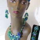 porcelain jewelry set #487