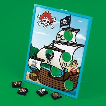 7 pc Pirate Bean Bag Toss Game Carnival Party Game New