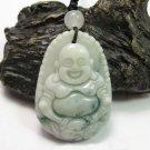 Natural white jade Happy / happiness / Compassion buddha charm pendant