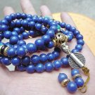 Tibetan Buddhism Natural Lapis lazuli Meditation yoga 108 Prayer Beads mala 108 necklace