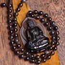 natural Obsidian buddha good luck chinese buddha pendant