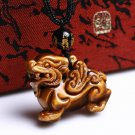 good luck natural tiger eye stone pi yao Amulet pendant