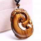 good luck natural tiger eye stone pi yao Amulet pendant