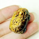 good luck natural tiger eye stone  dragon ATurtle mulet pendant
