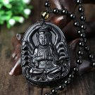 Patron saint of natural obsidian pendant Avalokitesvara